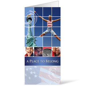 Belong Red White Blue  11 x 17 Bulletins