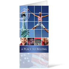 Belong Red White Blue Bulletin