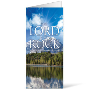 Lord My Rock  11 x 17 Bulletins