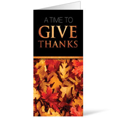 Time To Give Thanks Bulletin