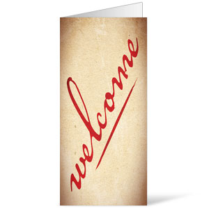 Red Script Welcome 11 x 17 Bulletins