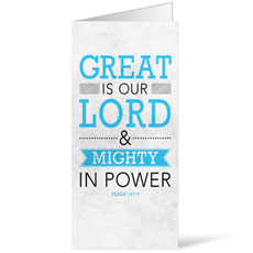 Great is Our Lord Bulletin