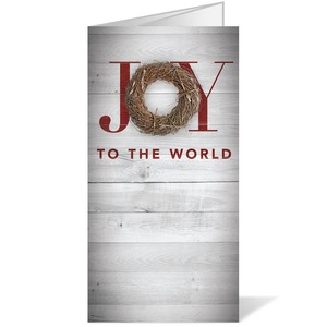 Joy Twig Wreath 11 x 17 Bulletins