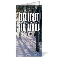 Scenery Scripture Psalm 37:4 Bulletin