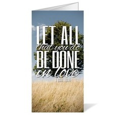 Scenery Scripture 1 Cor 16:14 Bulletin