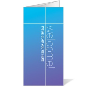 Color Wash Welcome Bulletins