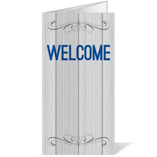 Painted Wood Welcome Bulletin