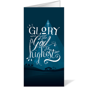 Glory to God Blue Bulletins