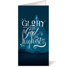 Glory to God Blue Bulletin
