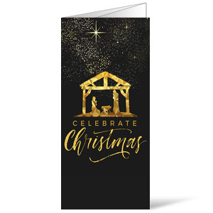 Black and Gold Nativity Bulletins