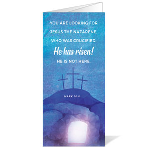 Blue Purple Easter Tomb Bulletins