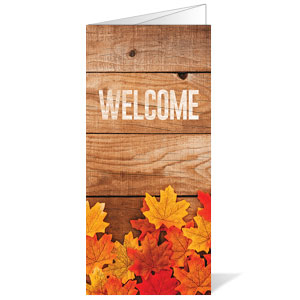Welcome Fall Leaves Bulletins