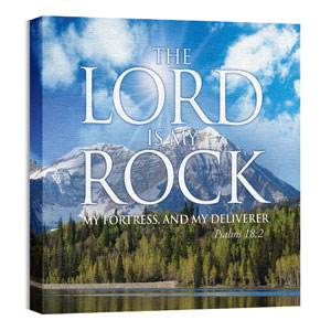 Lord My Rock 24 x 24 Canvas Prints