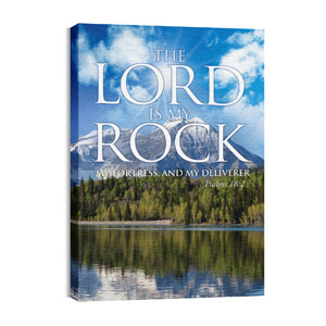 Lord My Rock 24in x 36in Canvas Prints