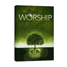 Deeper Roots Worship Horizontal Wall Art