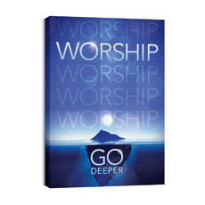 Deeper Iceberg Worship Horizontal Wall Art
