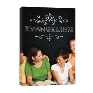 Chalk Evangelism 24in x 36in Canvas Prints