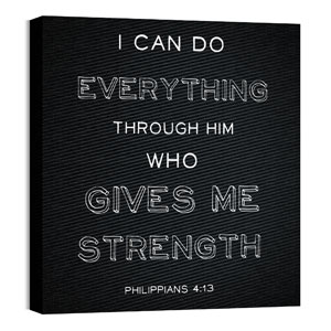 Chalk Phil 4:13 24 x 24 Canvas Prints