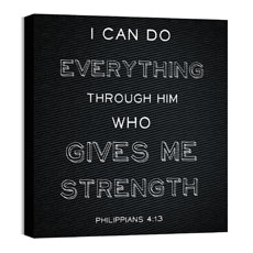 Chalk Phil 4:13 Wall Art