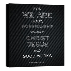 Chalk Eph 2:10 24 x 24 Canvas Prints