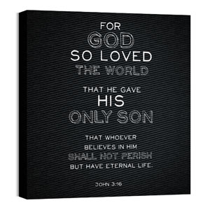 Chalk Jn 3:16 24 x 24 Canvas Prints