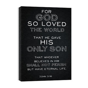 Chalk Jn 3:16 24in x 36in Canvas Prints