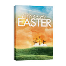 Easter Landscape Canvas Print