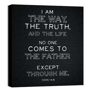 Chalk Jn 14:6 24 x 24 Canvas Prints