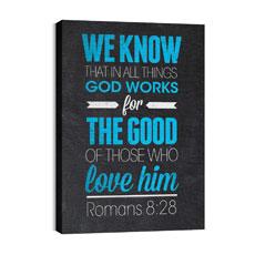 Slate Rom 8:28 Wall Art