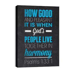 Slate Ps 133:1 24in x 36in Canvas Prints