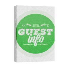 Guest Circles Info Green Wall Art