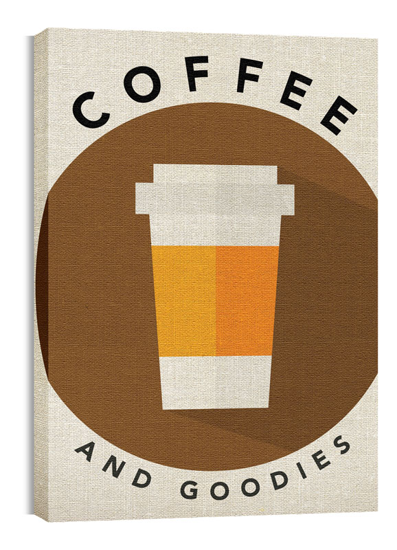Wall Art, Directional, Burlap Coffee, 24 x 36