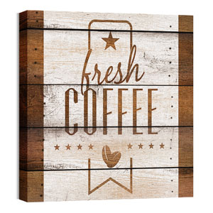 Barn Wood Coffee 24 x 24 Canvas Prints