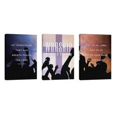 Worship Loud Triptych Wall Art