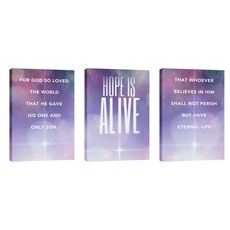 Hope Is Alive Triptych Wall Art