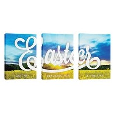 Easter Field Triptych Wall Art