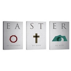 Easter Icon Triptych Wall Art
