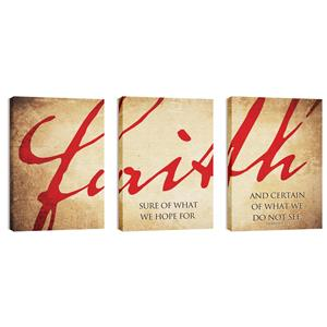 Faith Triptych  Wall Art