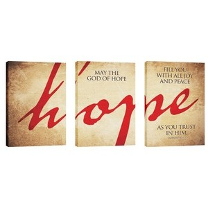 Hope Triptych  24in x 36in Canvas Prints