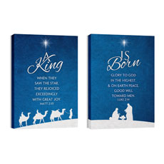 Christmas Blue Wall Art