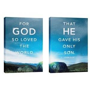 For God So Loved Pair 24in x 36in Canvas Prints