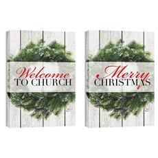 Wreath Pair Wall Art