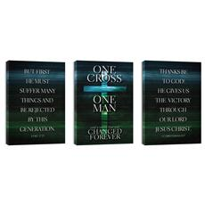 One Cross Triptych Wall Art