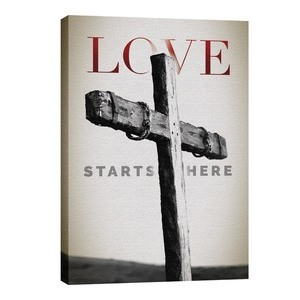 Love Starts Here 24in x 36in Canvas Prints