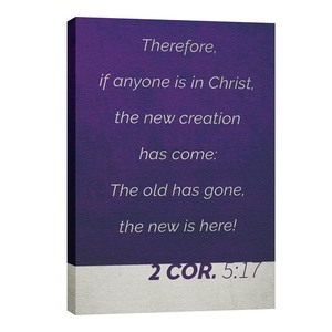 Color Block 2 Cor 5:17 24in x 36in Canvas Prints
