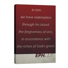 Color Block Eph 1:7 Wall Art
