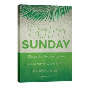 Color Block Palm Sunday 24in x 36in Canvas Prints