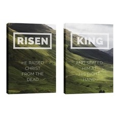 Risen King Hillside Pair Wall Art