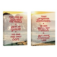 Whoever Believes Pair Wall Art