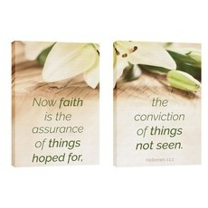Faith Lilies Pair Wall Art
